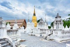 寺庙Wat Suan Dok在清迈;泰国 免版税图库摄影