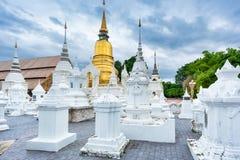 寺庙Wat Suan Dok在清迈;泰国 库存照片
