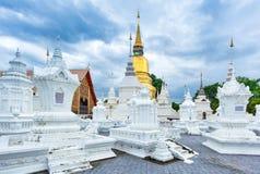 寺庙Wat Suan Dok在清迈;泰国 免版税库存照片