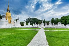 寺庙Wat Suan Dok在清迈;泰国 免版税库存图片