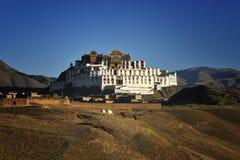 寺庙zangdan的西藏 库存照片