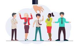 寻找工作概念的合适的人 聘用的和吸收的新的雇员 平的传染媒介 皇族释放例证