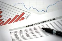 寻找工作 免版税图库摄影