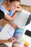 寻找最佳的颜色 免版税库存照片