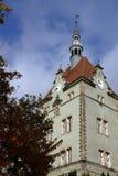 寻找计数舍恩博恩城堡在Karpaty村庄 外喀尔巴阡州地区,乌克兰 免版税库存照片