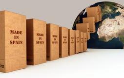 导出产品西班牙语 免版税库存照片