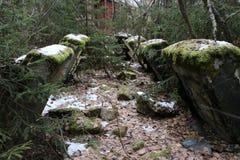 导弹力量老被毁坏的军事基地在爆炸以后的与在wo和防空洞投掷的指挥所 免版税库存照片
