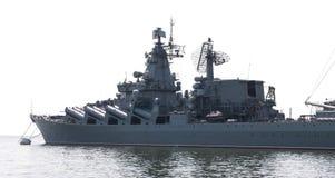 导弹巡洋舰。 库存图片