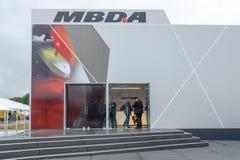 导弹系统- MBDA欧洲开发商和制造者的亭子  库存图片