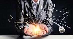 导线互联网连接 免版税库存照片