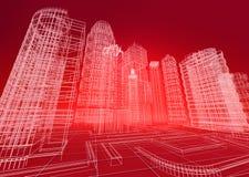 导线城市摘要背景 免版税库存照片