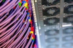 导线被连接到服务器 免版税库存照片