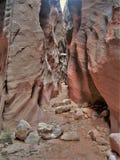导线通行证槽孔峡谷 库存照片