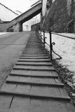 导致中世纪堡垒Hohensalzburg,萨尔茨堡,奥地利的楼梯 库存图片