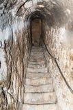 导致从一个大沙龙的秘密步麸皮的一间秘密屋子在麸皮城市防御在罗马尼亚 库存图片