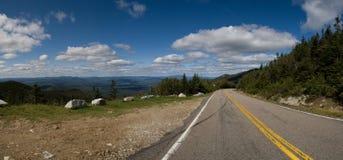 导致森林的高速公路过去 免版税图库摄影