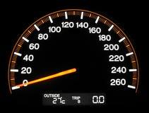 导致的车速表 库存图片
