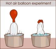 导航一个热空气气球实验的例证 库存例证