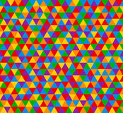 导航三角无缝的样式,在明亮的颜色的背景 库存照片