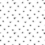 导航不尽的无缝的样式深灰墨水斑点手画在简单的最低纲领派样式的白色背景 免版税库存图片