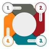 导航与四步的五颜六色的背景计划并且安置为 免版税库存图片