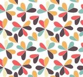 导航与在三叶草形状安置的心脏的无缝的样式 平的三叶草想象颜色背景 简单重复 免版税库存照片