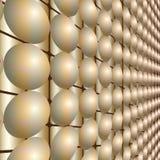 导航与抽象球形未来企业技术结构的例证 图库摄影