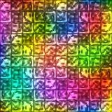 导航与方形的霓虹元素的明亮的五颜六色的背景 库存图片