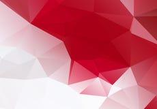 红色白色几何背景eps 10 免版税库存图片
