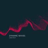 导航与的抽象背景色的动态波浪 免版税库存照片