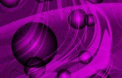 导航与纹理、3d蒴和紫罗兰被遮蔽的背景,传染媒介例证的抽象发烟性波浪 向量例证