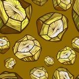 导航与金色石头背景的图象的无缝的样式 明亮的模式 库存图片