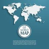导航与长的阴影的世界地图背景和 图库摄影
