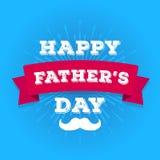 导航与髭的愉快的父亲节贺卡在海报的旭日形首饰 向量例证