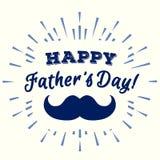 导航与髭的愉快的父亲节贺卡 向量例证