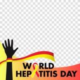 导航世界横幅和海报社会媒介模板的肝炎天的例证 免版税库存照片