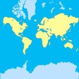导航世界的地图在飞机的 免版税库存照片