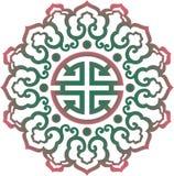 导航东方中国装饰品,亚洲传统样式,花卉葡萄酒元素,裁减剪影,装饰中央 库存图片