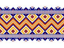 导航乌克兰民间无缝的样式装饰品的例证。 向量例证