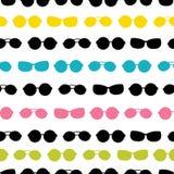 导航五颜六色的太阳镜条纹暑假无缝的样式 伟大为假期主题的织品,墙纸 库存例证