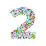 导航五颜六色的宝石字体,数字2 库存例证
