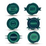 导航优质质量的汇集并且保证标签减速火箭的葡萄酒样式设计 现实100%标志集合徽章的hight 图库摄影