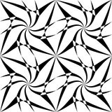 导航似真现代无缝的几何的样式,黑白摘要 库存图片
