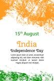 导航例证印地安人美国独立日,在时髦样式的印度旗子 8月14日 免版税库存照片
