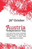 导航例证奥地利美国独立日,在时髦难看的东西样式的奥地利旗子 10月26日设计模板为 免版税库存图片