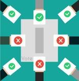 导航例证投票的概念-递投入选票我 免版税图库摄影