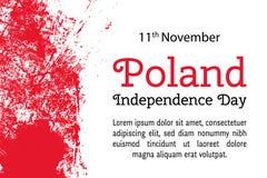 导航例证波兰美国独立日,在时髦难看的东西样式的波兰旗子 11月11日海报的设计模板 库存照片