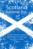 导航例证苏格兰国庆节,在时髦难看的东西样式的苏格兰旗子 6月23日海报的,横幅, flaye设计模板 图库摄影