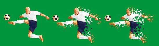 导航例证足球足球运动员低多样式concep 库存例证