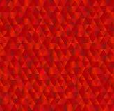 导航几何三角背景,在红颜色的无缝的样式 图库摄影
